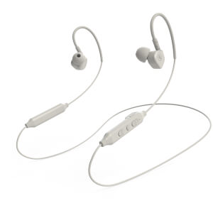 Mixx Memory Fit 5 Bluetooth Wireless Sports Earphones - White