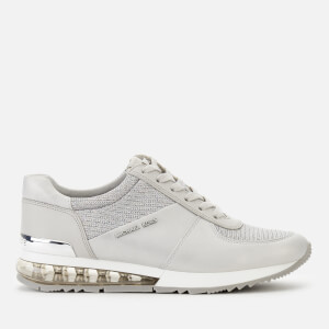 MICHAEL MICHAEL KORS Women's Allie Extreme Leather/Mesh Runner Style Trainers - Milk