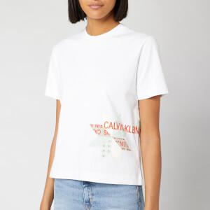 Calvin Klein Jeans Women's Institutional Quilt Slim Fit T-Shirt - Bright White