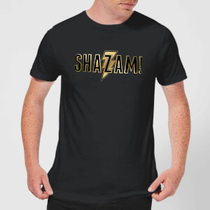 Shazam Gold Logo Men's T-Shirt - Black