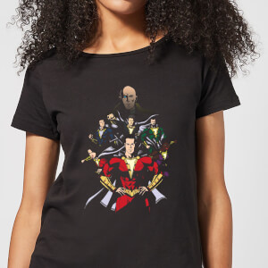 Shazam! Team Up dames t-shirt - Zwart