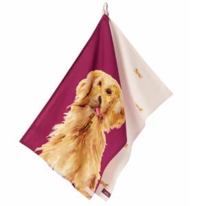 Joules Golden Dog Set of 2 Tea Towels