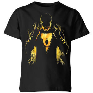Shazam Lightning Silhouette Kids' T-Shirt - Black