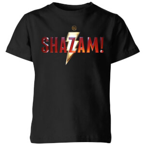 Shazam Logo Kids' T-Shirt - Black