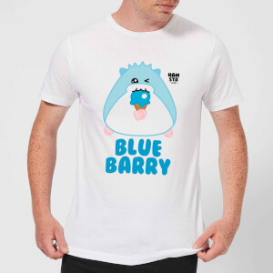 Hamsta Blue Barry Men's T-Shirt - White