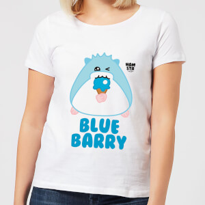 Hamsta Blue Barry Women's T-Shirt - White