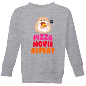 Hamsta Pizza Movie Repeat Kids' Sweatshirt - Grey