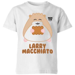Hamsta Larry Macchiato Kids' T-Shirt - White