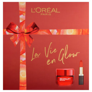 L'Oréal Paris La Vie En Glow Moisturiser and Lipstick Gift Set For Her 2 x 50ml