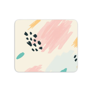 Mouse Mats Crayon Pattern Dots And Scribbles Mouse Mat