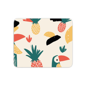 Mouse Mats Parrots And Pineapples Mouse Mat