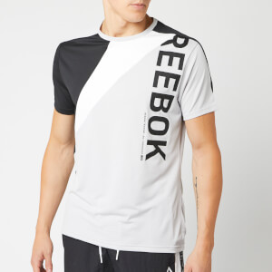 Reebok Men's OST Blocked Short Sleeve T-Shirt - Grey/Black