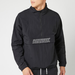 Reebok Men's MYT Woven 1/2 Zip Jacket - Black