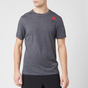 Reebok Men's Crossfit Ac+Cotton Short Sleeve T-Shirt - Grey