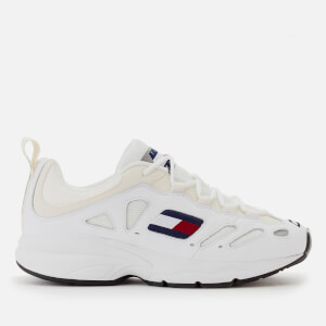 Tommy Jeans Men's Retro Chunky Runner Style Trainers - White