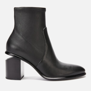 Alexander Wang Women's Anna Stretch Heeled Ankle Boots - Black