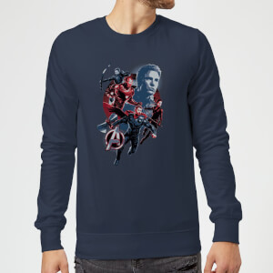 Sweat-shirt Avengers: Endgame Shield Team Homme - Bleu Marine