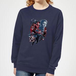 Avengers: Endgame Shield Team Women's Sweatshirt - Navy