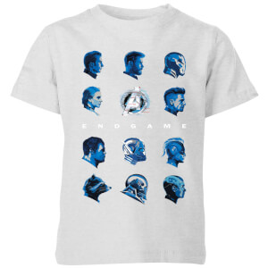 Avengers: Endgame Heads Kids' T-Shirt - Grau