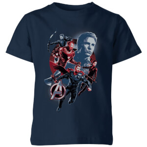 Avengers: Endgame Shield Team Kids' T-Shirt - Navy Blau