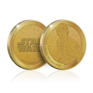 Collectible Star Wars Commemorative Coin: Luke Skywalker - Zavvi Exclusive (Limited to 1000)
