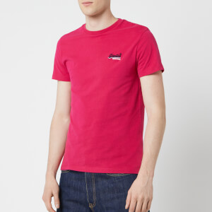 Superdry Men's Orange Label Vintage Embroidered Short Sleeve T-Shirt - Rich Raspberry