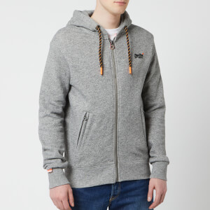 Superdry Men's Orange Label Hyper Pop Zip Hoody - Portland Charcoal Grit