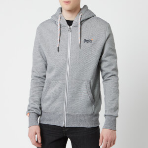 Superdry Men's Orange Label Zip Hoody - Vintage Grey Feeder Stripe