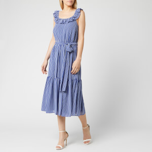 MICHAEL MICHAEL KORS Women's Mini Railroad Maxi Dress - Twilight Blue