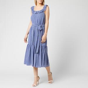 MICHAEL MICHAEL KORS Women's Mini Railroad Maxi Dress - Twilight Blue