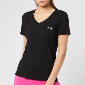 Superdry Women's Ol Essential Vee T-Shirt - Jet Black