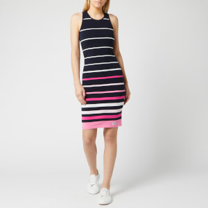 Superdry Women's Stripe Midi Dress - Navy Pink Stripe
