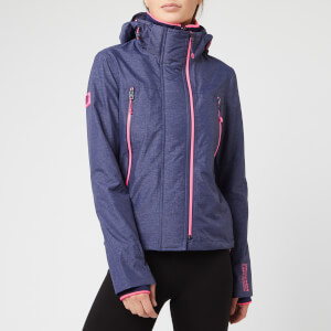 Superdry Women's Tech Velocity SD-Windcheater Jacket - New Navy Marl/Fluro Pink