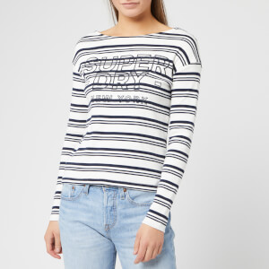 Superdry Women's Gracie Stripe Top - Mono Stripe