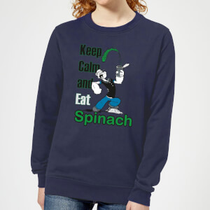 Popeye Keep Calm And Eat Spinach dames trui - Navy