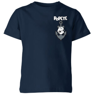 Popeye Anchor kinder t-shirt - Navy