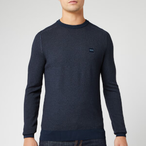 BOSS Men's Akustor Knit Jumper - Navy