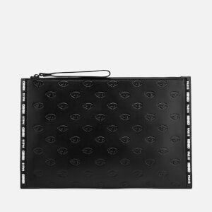 KENZO Women's Eye Allover Embossed A4 Pouch - Black