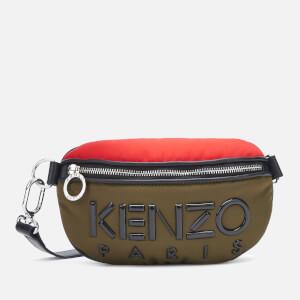 KENZO Women's Neoprene Logo Bum Bag - Khaki