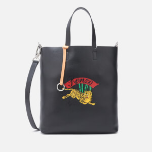KENZO Women's Medium Jumping Tiger Tote Bag - Black