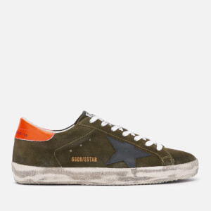 Golden Goose Deluxe Brand Men's Superstar Suede Trainers - Grey/Black Star