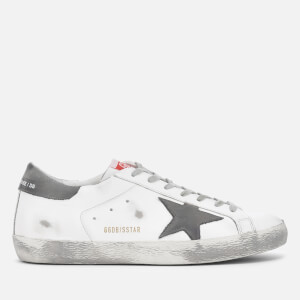 Golden Goose Deluxe Brand Men's Superstar Leather Trainers - White/Grey Nubuck Star
