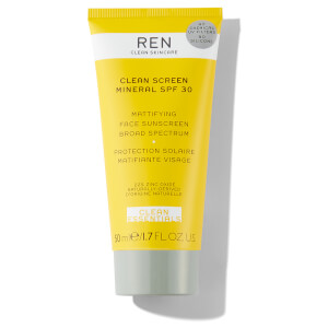 REN Clean Skincare Clean Screen Mineral SPF30 Mattifying Broad Spectrum Face Sunscreen 50ml