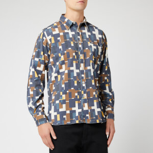 Universal Works Men's Cord Standard Shirt - Navy Square