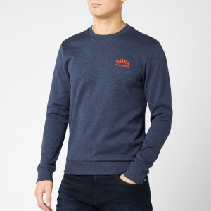 BOSS Men's Salbo 1E Small Logo Sweatshirt - Blue Melange/Orange