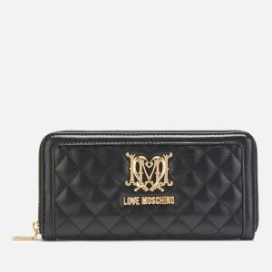 e07e8f0d446 Love Moschino Women's Quilted Zip Around Purse - Black