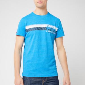 Superdry Men's Vintage Authentic Chest Stripe T-Shirt - Riviera Royal Marl