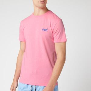 Superdry Men's Orange Label T-Shirt - Fluro Pink Grit