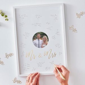 Ginger Ray Mr & Mrs Guest Book Frame