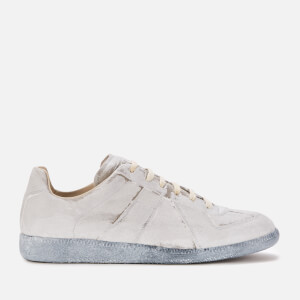 Maison Margiela Men's Replica Low Top Trainers - Grey/White Paint